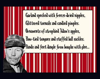 Ed Gein Christmas card