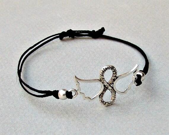 Angel Wings Infinity Mens Bracelet Anklet Women Bracelet Anklet Adjustable