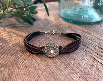 Tree Goddess Leather Bracelet