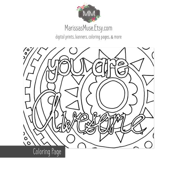 amazing spiez coloring pages | Printable You Are Awesome Coloring Page // 8.5x11
