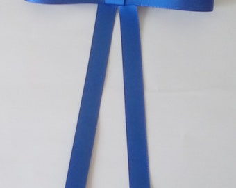 Ladies blue bow tie