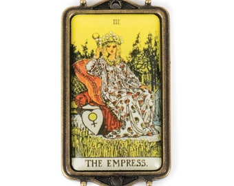 Tarot Card Pendant - The Empress (STEAM207)