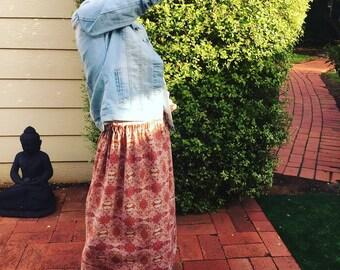 Sukie Tween 'Earth Flowers' Maxi Skirt