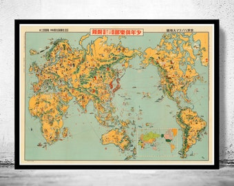 Old Japanese World Map