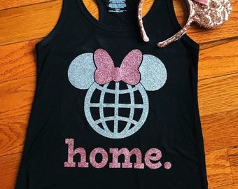 Rose Gold and Silver Minnie Tank
