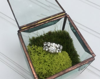Glass Treasure Box - Ring Box