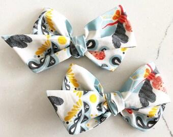 Emma | Handtied Bow | Bee Bow | Bumble Bee Bow | Handtied Bee Bow | Spring Bow | Summer Bow | Bee Headband | Baby Bow |