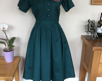 SALE   Reproduction 1940's Womens Voluntary Uniform Dress. We now have 2 in stock but only one belt.