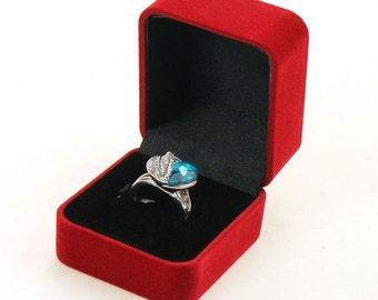 Engagement Ring Box, Ring box, jewelry box, Christmas gift box, ring box wedding,velvet ring box, wedding ring box, gift box, one pc,BAG-006