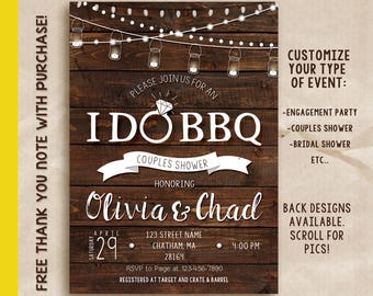 I DO BBQ invitation, I Do Bbq Invite, Couples Shower Invitation, Wedding Shower, Bridal Shower, printable invitation