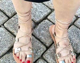 Leather Gladiators, Lace up Sandals, Natural Gladiator Sandals, Sandales à Lacets, Womens Sandals, Womens Gladiator, Sandales Gladiateurs