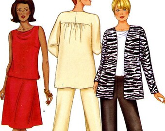 Butterick 6939 Easy Jacket Top Skirt and Pants Size 8 10 12 UNCUT Sewing Pattern 2000