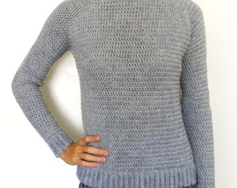 Classic Sweater - 9 Sizes - PDF Crochet Pattern - Instant Download