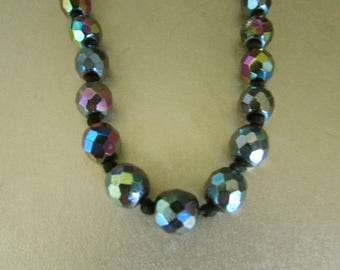 Carnival Multi-Faceted Beads Necklace 23""
