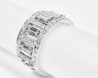 bands decoration ideas wedding ceremony diamond amazing wide ring band and