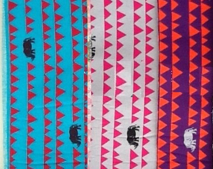 Rhino - ECHINO Decoro by Etsuko Furuya - fat quarter set of 3