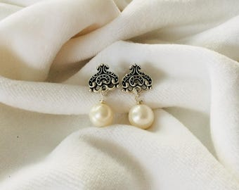Genuine Fresh Water Pearl Earrings