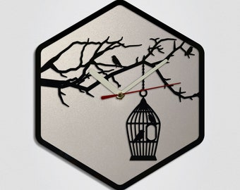 Birds Handmade Modern Wall Clock