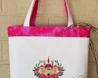 Happily ever after - magic castle tote FREE SHIPPING