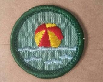 Vintage Girl Scout Merit Badge/Patch WATER FUN