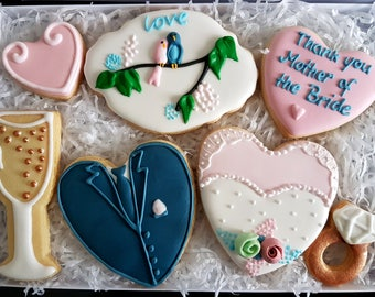Wedding cookies / Wedding gift box / Gift for parents / Gift for Mother of the bride