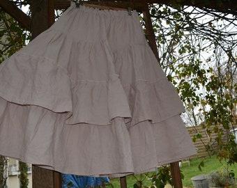 Powder Pink linen Julia underskirt