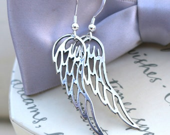 Sterling Angel Wings with Sterling earwires