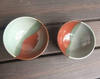 Handmade bowls // 16 oz bowl set // set of 2 bowls