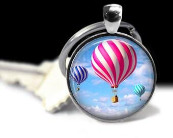 Hot Air Balloon Wearable Art  Balloon Pendant Charm Balloon Keychain  Jewelry