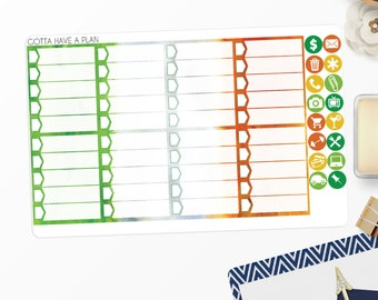 Planner Stickers Luck of the Irish Checklist Full Box for Erin Condren, Happy Planner, Filofax, Scrapbooking