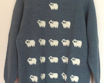 Vintage Wool Sheep Sweater