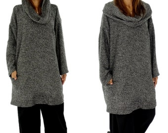 HQ200GR sweater 30% wool / polyester 70 Gr. 38-54 grey/taupe
