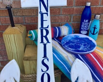 LETTERING for House Name Sign OBX outdoor anchor mermaid dolphin whale turtle custom family name welcome Outer Banks NC BeachHouseDreamsHome