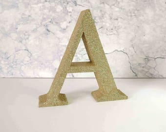 Personalised Free Standing Letters, Glitter Free Standing Letters, 3D Printed Custom, Initials Names For Birthdays/Anniversaries/Weddings