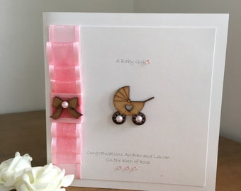 Personalised It's a Baby Girl Card