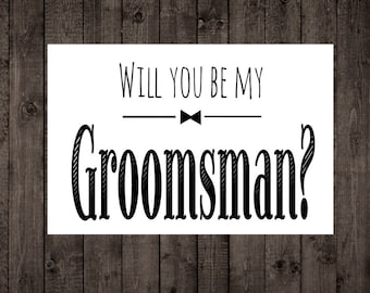Shit just got real will you be my groomsman best man will you be my groomsman printable wedding card groomsman best man invitation wedding junglespirit Images