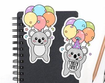 SALE Planner Die Cuts Printable, Birthday Die Cuts, Koala Die Cuts, Animal Die Cuts, Scrapbook Die Cuts, Planner Accessories - Office