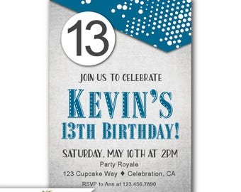 13th birthday party invitations for boys Josemulinohouseco
