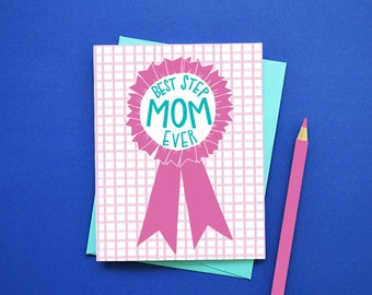 Best STEPMOM ever, Happy Mother's Day, Mother's Day Card, #1 Step Mom, Stepmother, Greeting Card, Stationery, World's Best Step Mom