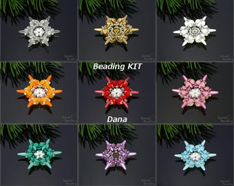 Dana Snowflake Christmas Beading Kit - 1 pc - KIT ONLY without tutorial!
