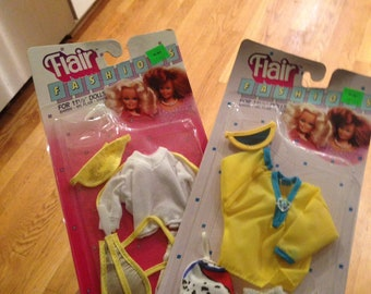 Flair Fashions Vintage Barbie Swimwear and Tennis outfits by Totsy