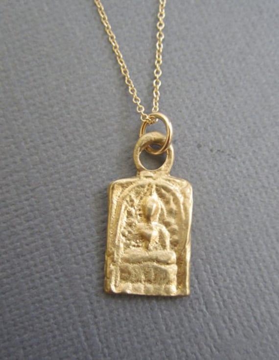 Yoga jewelry gold buddha jewelry meditating buddha pendant mozeypictures Images