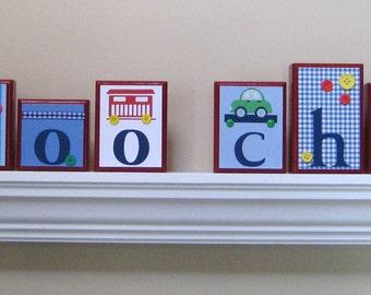 Name Blocks . Routed Edge Blocks . Nursery Name Blocks . Nursery Decor . Baby Name Blocks . Wood Name Blocks . Train . choo choo