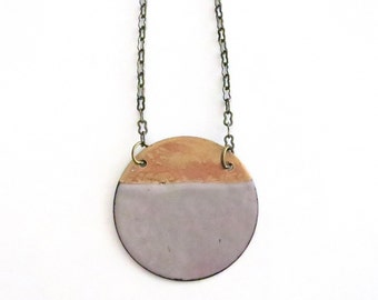 Grey and Gold Necklace