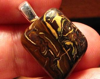 Totally nature  Koroit boulder Opal Pendant