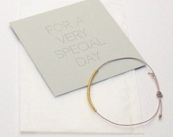 Bracelet - For a very special day - Sand/Beige