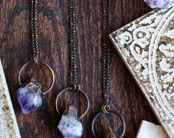 Toska Raw Amethyst Point Necklace