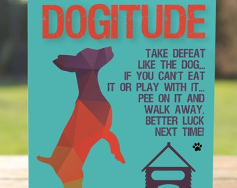 Peeing dog card etsy dogitude pee on it better luck next time defeated greeting card dog humor woof m4hsunfo