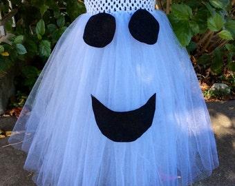 Ghost tutu dress, ghost dress, tutu dress, halloween tutu dress, halloween costume, halloween tutu, spooky ghost, girls dress, toddler dress