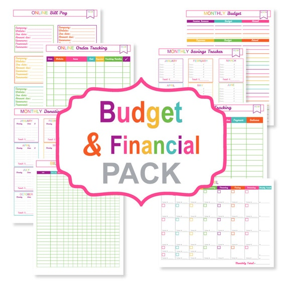Printable Budget Planner Pack Printable Bill Tracker